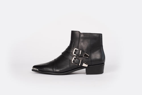 TILLY BOOT (BLACK/SILVER)