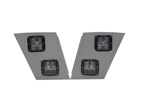 Volvo VNL LED Fog Light and Driving Light V-SPEC Series assembly (Pair-Silver)