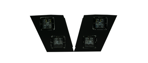 Volvo VNL LED Fog Light and Driving Light V-SPEC Series assembly (Pair-Black)