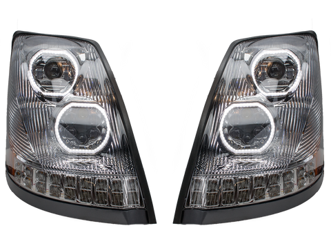 Volvo VNL Headlight Brilliant Series LED Headlight (Black) Driver