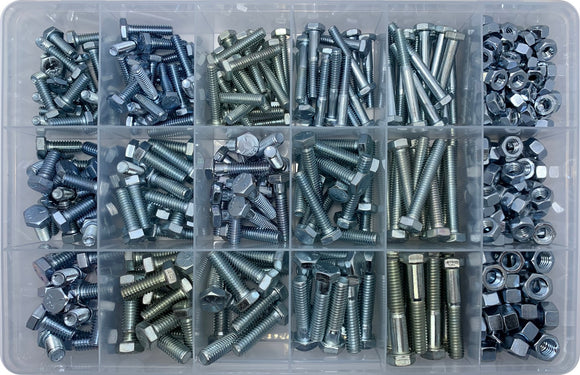UNC NUT & BOLT ASSORTMENT KIT (APPROX QTY 425)