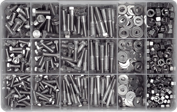 STAINLESS UNC NUT & BOLT ASSORTMENT KIT (APPROX QTY 570)