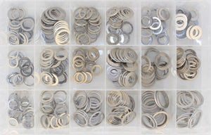 ALUMINIUM SUMP PLUG WASHER ASSORTMENT KIT (APPROX QTY 345)