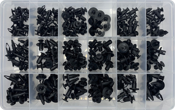 SCREW TYPE PLASTIC SCRIVET ASSORTMENT KIT  (APPROX QTY 194)
