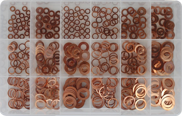 COPPER WASHER ASSORTMENT KIT (APPROX QTY 450)