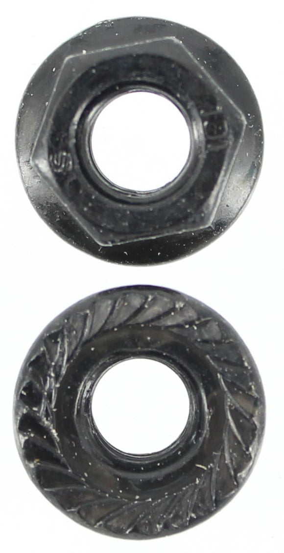 M6 X 1.0 PITCH FLANGE NUT ZINC BLACK (QTY 40)