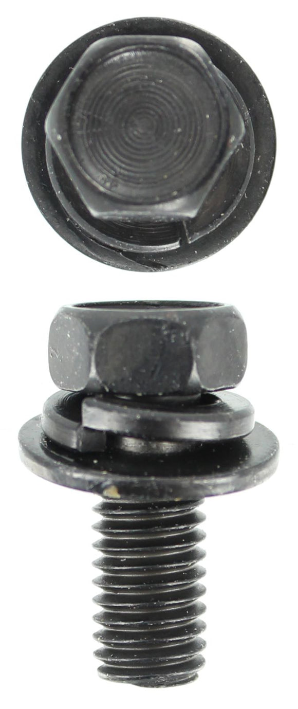 SEMS - M8 X 20MM SEMS BLACK 2 WASHER (QTY 12)
