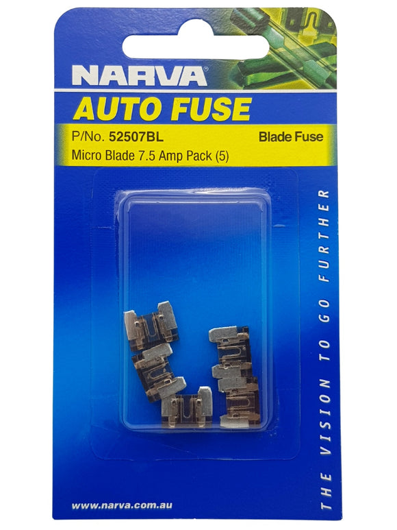 MICRO BLADE FUSE 7.5AMP (QTY 5)