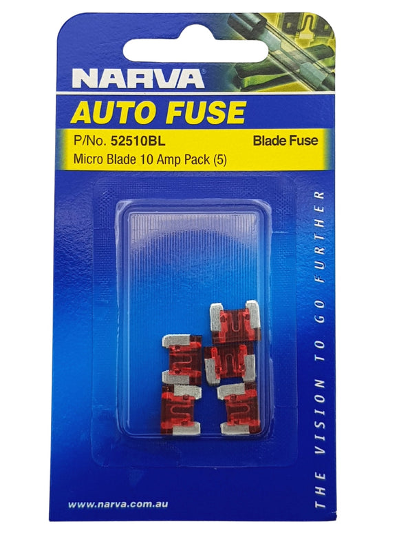 MICRO BLADE FUSE 10AMP (QTY 5)