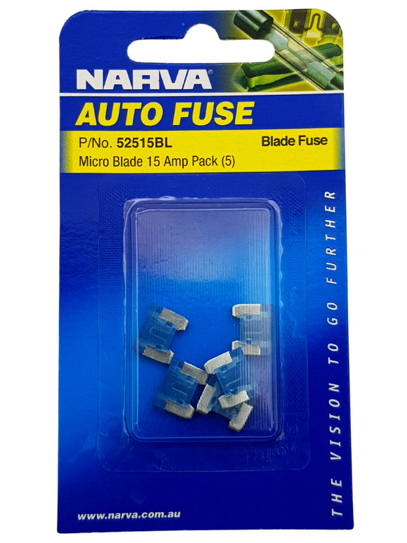 MICRO BLADE FUSE 15AMP (QTY 5)