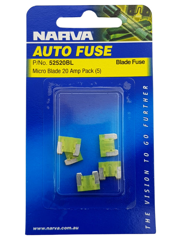 MICRO BLADE FUSE 20AMP (QTY 5)
