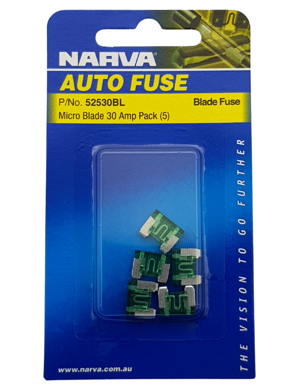 MICRO BLADE FUSE 30AMP (QTY 5)