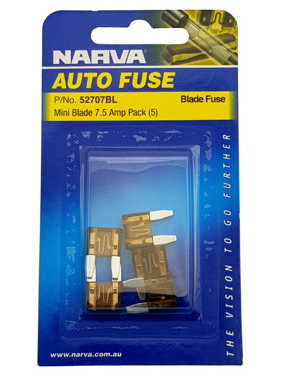 MINI BLADE FUSE 7.5AMP (QTY 5)