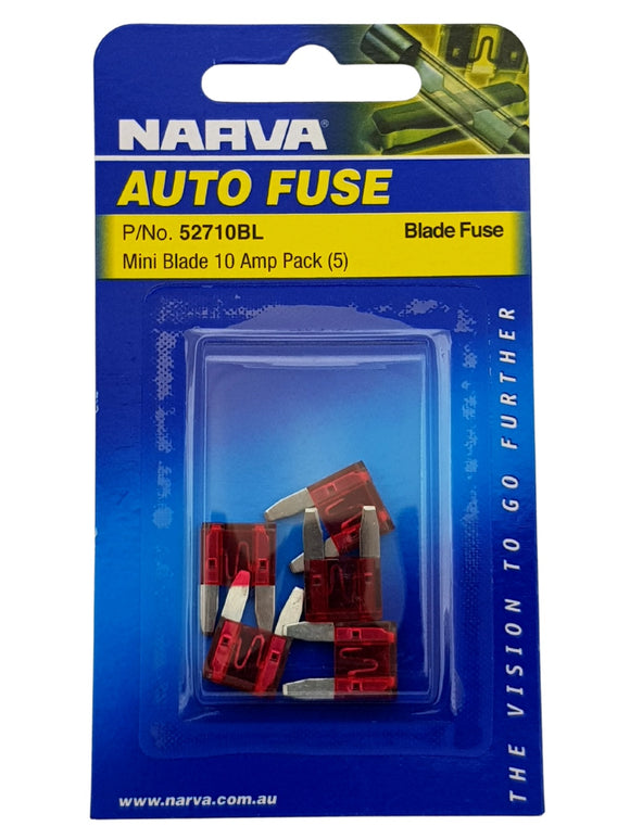 MINI BLADE FUSE 10AMP (QTY 5)