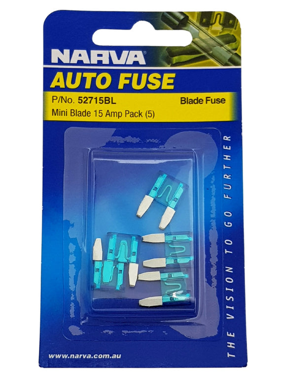 MINI BLADE FUSE 15AMP (QTY 5)