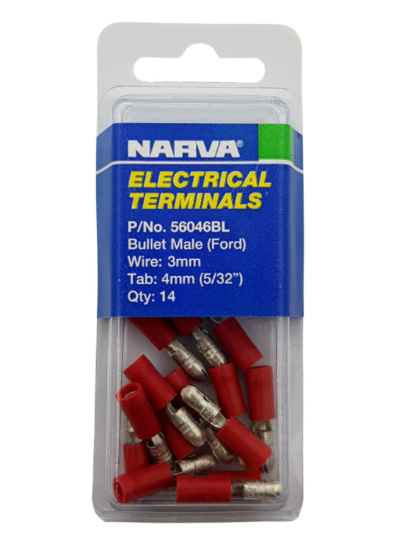 ELECTRICAL TERMINAL - BULLET MALE FORD, 3MM WIRE, 4MM (5/32