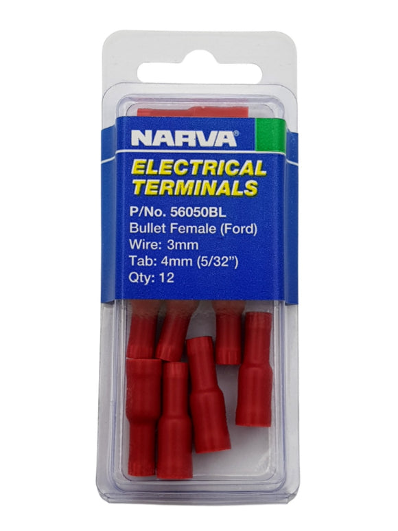 ELECTRICAL TERMINAL - BULLET FEMALE FORD, 3MM WIRE, 4MM (5/32