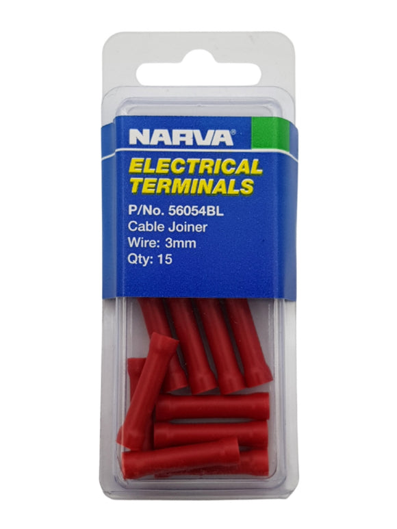 ELECTRICAL TERMINAL - CABLE JOINER, 3MM WIRE (QTY 15)