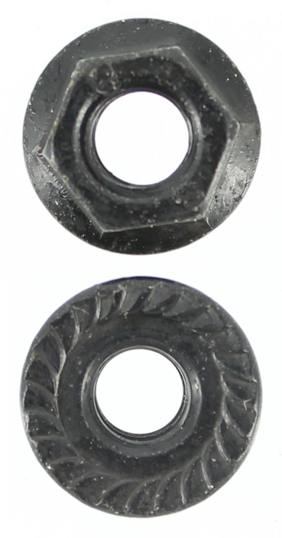 M5 X 0.8 PITCH FLANGE NUT ZINC BLACK (QTY 50)