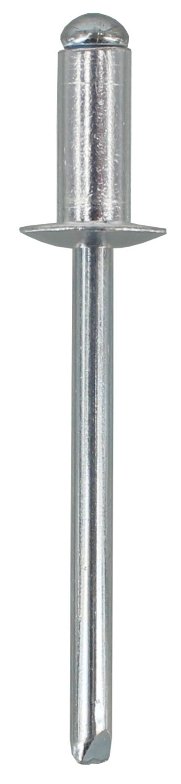 POP RIVET AS6-4 - ALUMINIUM RIVET, STEEL STEM  (QTY 50)