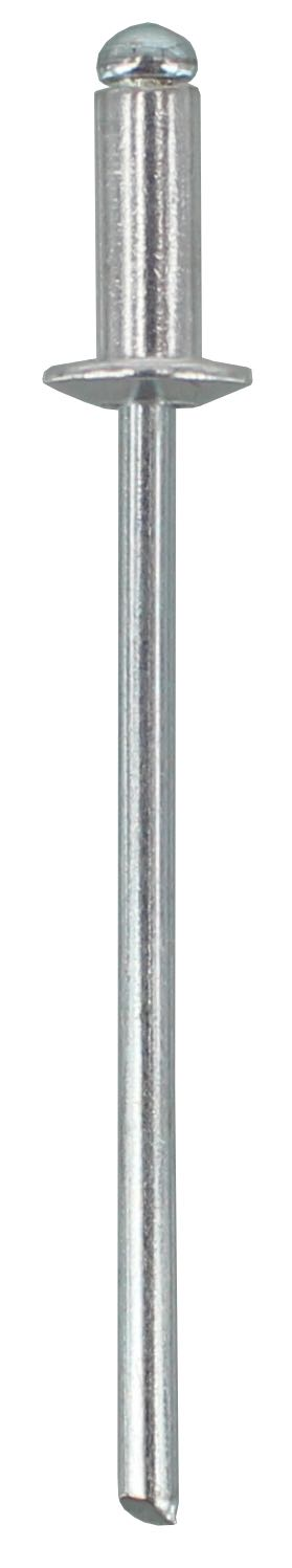 POP RIVET AS4-3 - ALUMINIUM RIVET, STEEL STEM  (QTY 100)