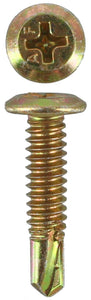SELF DRILLING SCREWS WAFER HEAD PHILLIPS 10-24 X 22MM (QTY 100)
