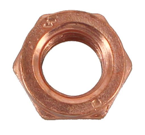 M8 X 1.25 COPPER PLATED EXHAUST NUT (QTY 10)