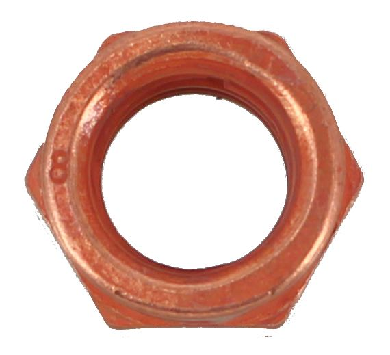 M10 X 1.5 COPPER PLATED EXHAUST NUT (QTY 10)