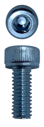 SOCKET HEAD CAP SCREWS ZINC M4 X 10 X 0.7 (QTY 60)