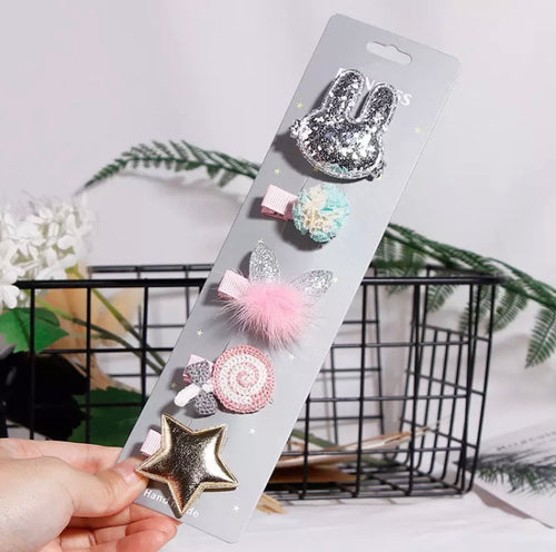 5 pcs Baby Bunny Hair Accessories
