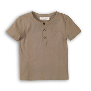 Henley Grey Slub T-Shirt