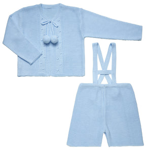 Blue Knitted Set