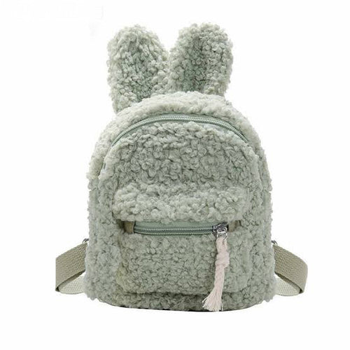 Faux-Fur Mini Backpack Bag