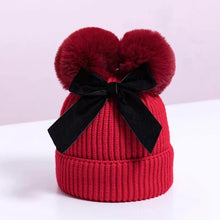 Load image into Gallery viewer, Double Pom Pom Knit Hat