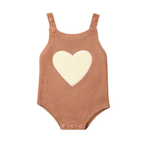 Knitted Heart Romper