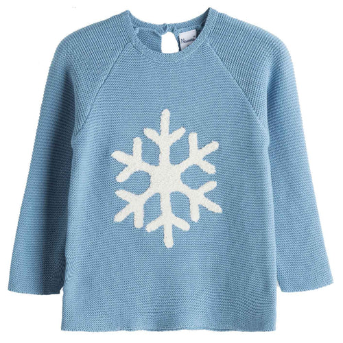 Snowflake knitted jumper