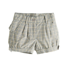 Load image into Gallery viewer, Tartan Grey & Mustard Shorts