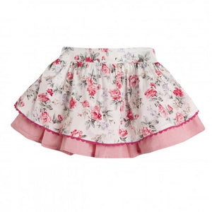 Newness Pink Flower Skirt