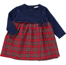 Load image into Gallery viewer, Navy Tartan Dress