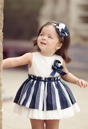 Sheila Navy Dress