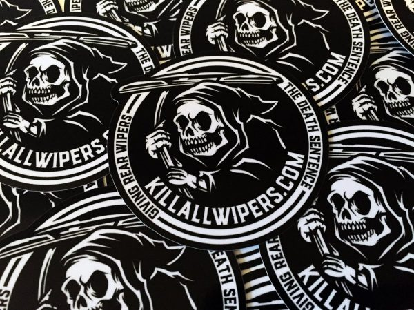 KILL ALL WIPERS | LOGO DECAL BLACK/WHITE