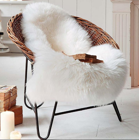 white faux fur carpet
