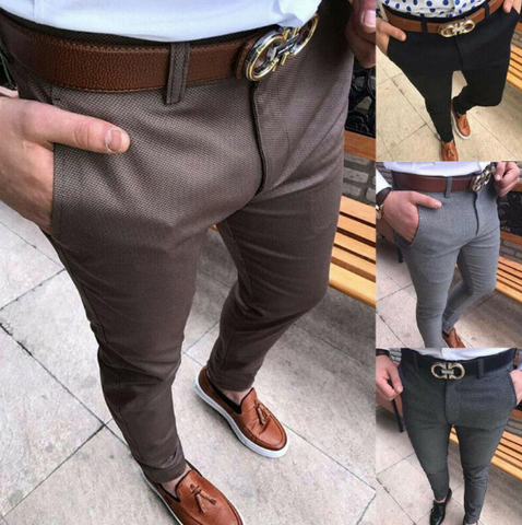 men's slim fit formal pants