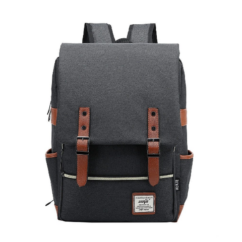 unisex canvas laptop backpack