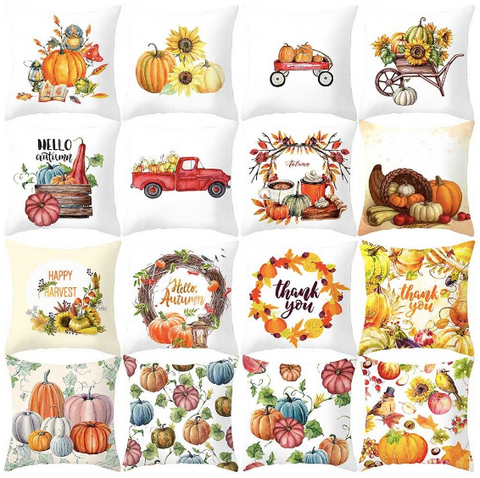 fall pumpkin sofa pillowcase
