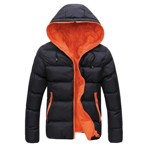men's hooded puffer parka