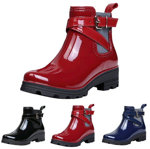 Patent Leather Ankle Strap Boot