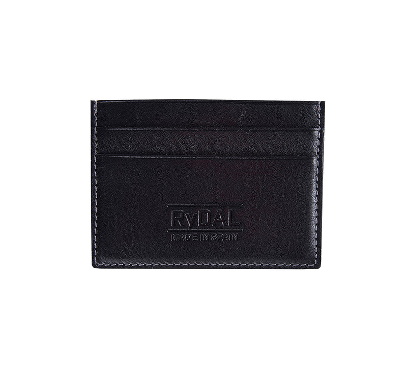 Maiano Mens Leather Card Holder in 'Black'. Italian Leather. RFID protection.