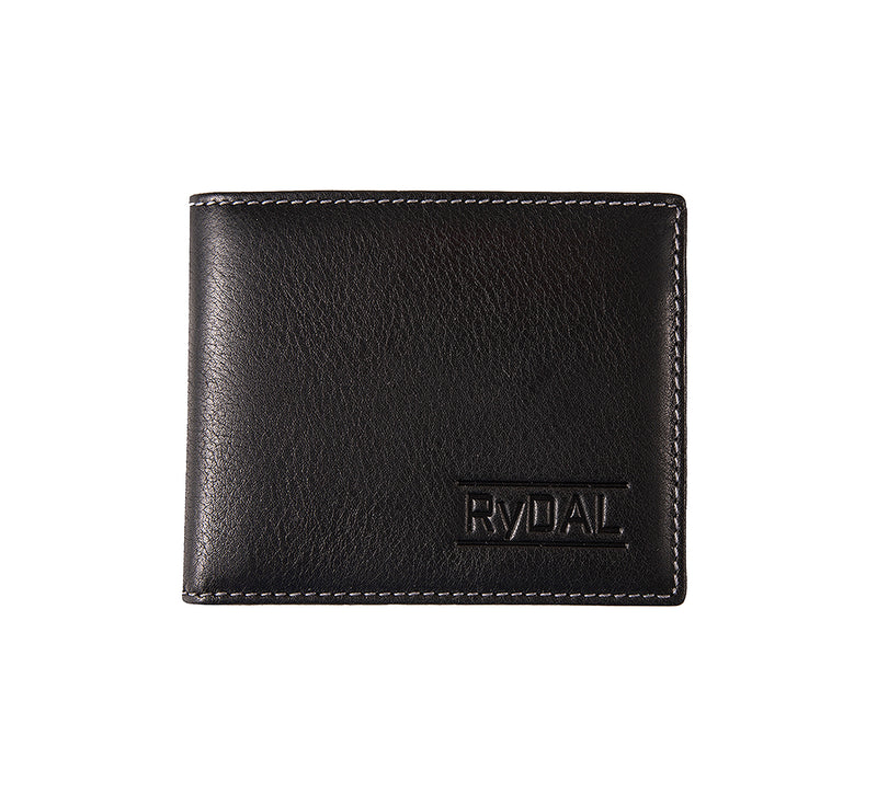 Solaia Mens Leather Wallet with Coin Pocket from Rydal in 'Black'.