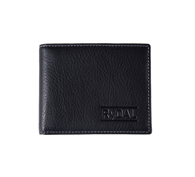 Solaia Mens Leather Wallet from Rydal in 'Black'.
